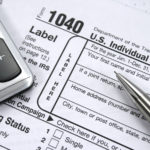 Photo of a tax return document